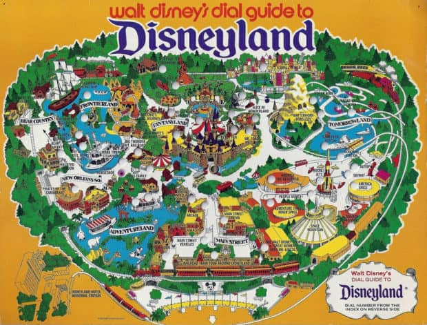 Click image for Disneyland map online